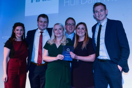 The Hull Daily Mail team with their award