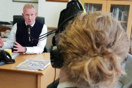 Editor Mike Norton is interviewed by Bristol Live journalist Alex Ballinger