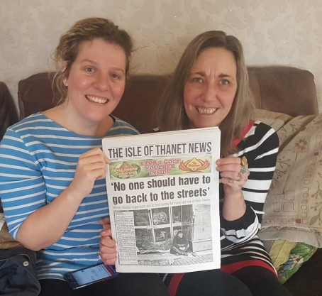 Isle of Thanet News co-owners Jodie Nesling, left, and Kathy Bailes