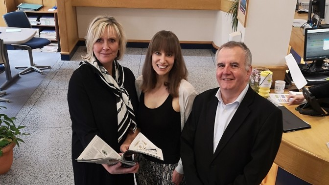 From left: Outgoing County Press deputy editor Rachael Rosewell, new editor Emily Pearce and current editor Alan Marriot