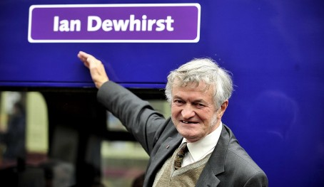 Ian Dewhirst with the train named in his honour