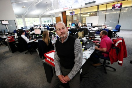 Daily Echo editor Ian Murray in the newsroom            Picture: Chris Moorhouse             Thursday 2nd June 2016