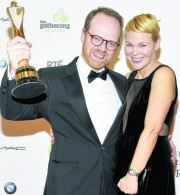 Former regional journalist Trevor Birney at the awards in Dublin in February