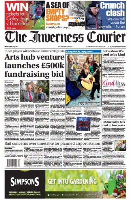 The Courier's current broadsheet design