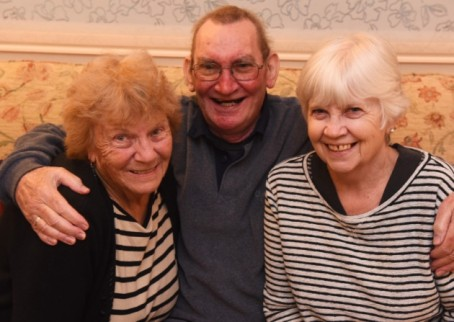Janet James, left, with Alan and Lesley Titchmarsh