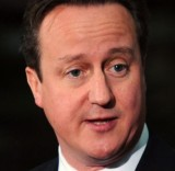 David Cameron during a campaign visit to the North-East