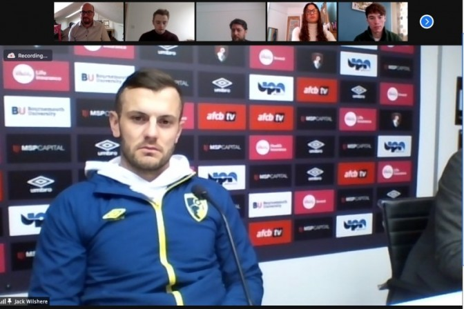 Jack Wilshere answers students' questions