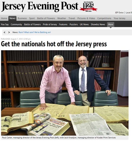 The Jersey Evening Post has told readers about the new printing press.