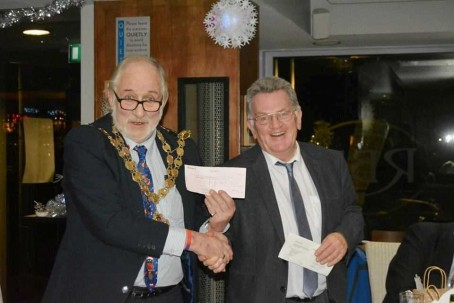 John Elworthy, right, with Ely mayor Cllr Mike Rouse