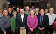 John Murdoch celebrates his lifetime membership with colleagues and friends