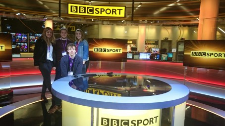 Journalism students visit BBC Media City, Salfrod