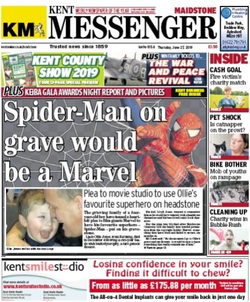The Messenger splashed on the appeal last week
