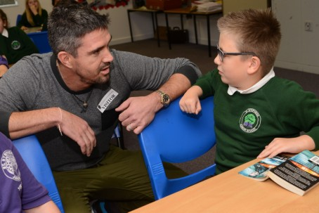 Ryan Belsey meets cricketer Kevin Pietersen as part of the Kentish Gazette's campaign