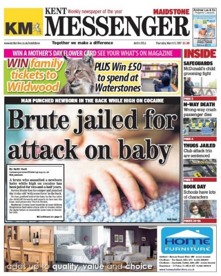 The first Wednesday edition of the Kent Messenger