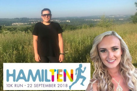 Hamilton Advertiser reporter Kirsten McStay, pictured left, in training for the race in memory of Eilidh McHugh, pictured right