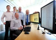 Members of the Knowledge implementation team at Guiton, from left: Guiton IT Technician Matt Hayes, PCS Application Implementer Matt Mansell, PCS Editorial Applications Specialist Martin Rees, Guernsey Press Editor Shaun Green and, seated, Guiton Group IT Manager, Darren Cooley.