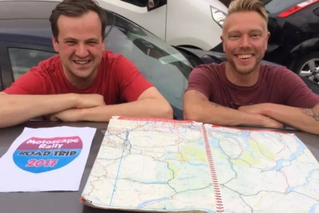 Andrew, left, and Eliot will take on the challenge in September