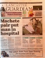 Lancaster Guardian page one