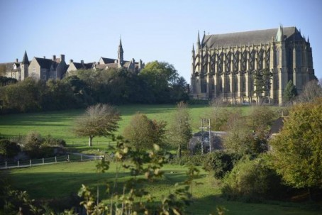 Lancing College, where Sunday's service will be held.