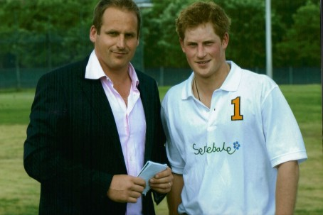 Duncan, left, with Prince Harry