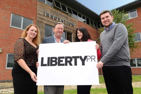 Liberty PR directors David Watts and Lisa Jolly, centre, flanked by new recruits Laura White and Tom Silk