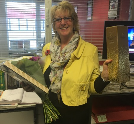 Editorial assistant celebrates 40 years with newspaper