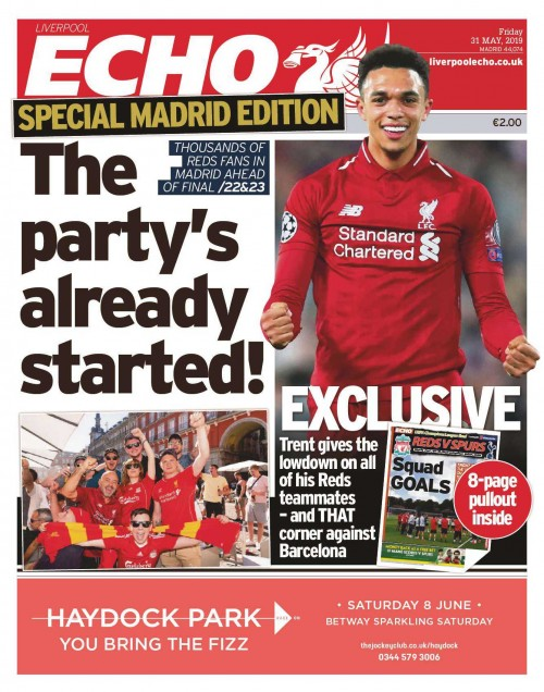 One of the special Madrid editions run by the Echo in May
