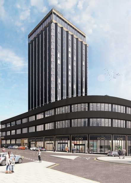 An artist's impression of the Echo Place development