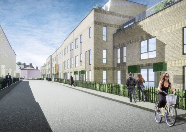 An artist's impression of how the scheme will look
