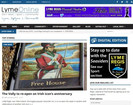 The LymeOnline homepage