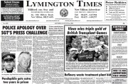 The apology was printed on the front page of the New Milton Advertiser and Lymington Times