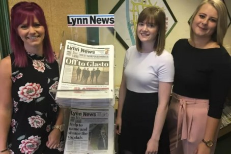 From left: New Lynn News recruits Rebecca Baxter, Paige Freshwater and Simone Kybert