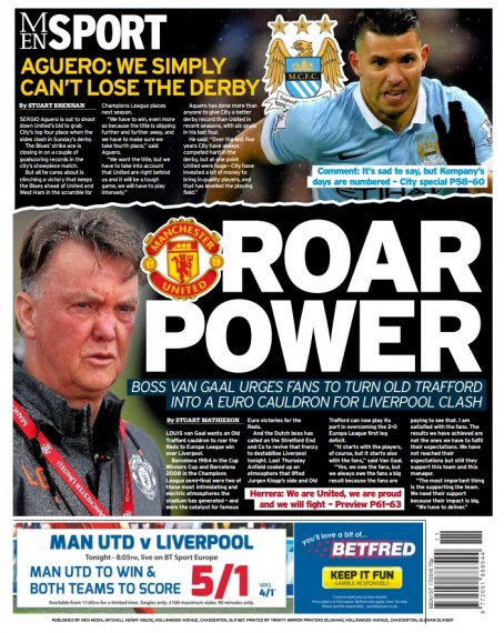 The new look back page of today's MEN