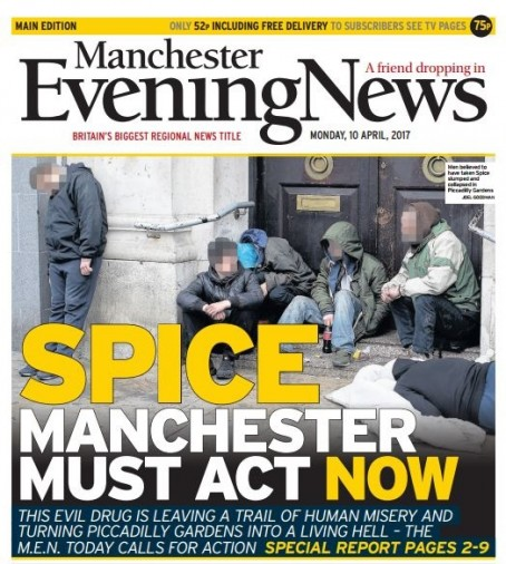 The MEN ran a special edition on the spice issue following Jen's investigation