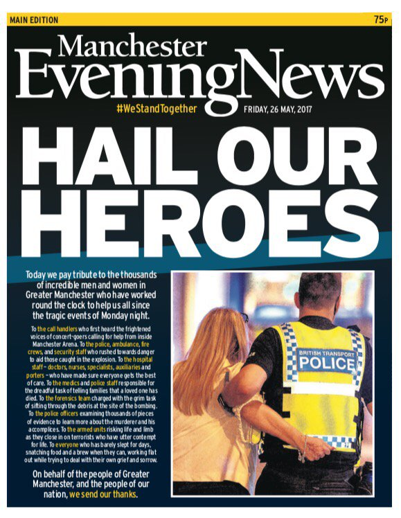Day 4 of the MEN's terror attack coverage today focuses on those who have 'worked round the clock' to help the city since Monday night's atrocity.