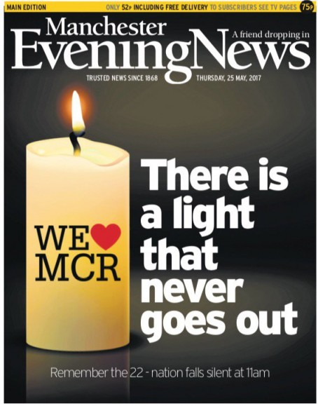 The MEN has been nominated for its Manchester terror attack coverage
