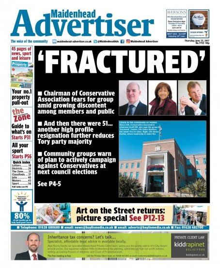 The front page of the Advertiser following last week's meeting