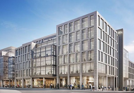 An artist's impression of the Marischal Square site