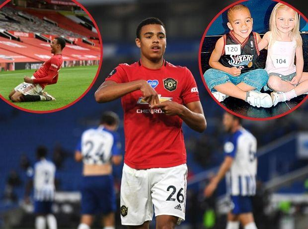 Mason Greenwood now and, inset, in his days as a T&A model contest