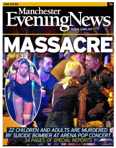 Massacre - winner of the Front Page of the Year category at the Regional Press Awards for 2017