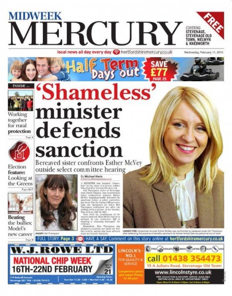 An edition of the Midweek Mercury from February 2015
