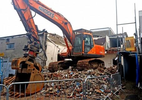 The site post-demolition