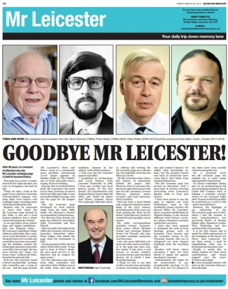 Mr Leicester's farewell piece