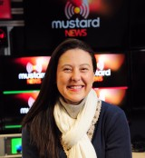 Mustard TV team. Fiona Ryder.Photo by Simon Finlay.