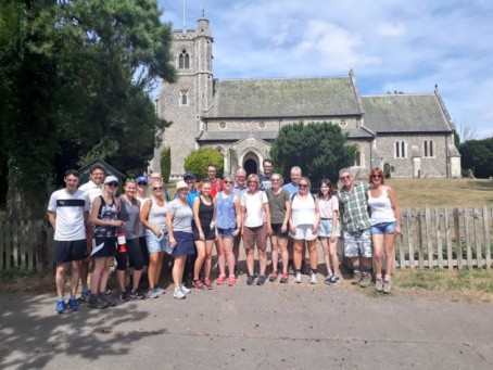 NCTJ staff and supporters during a previous sponsored walk