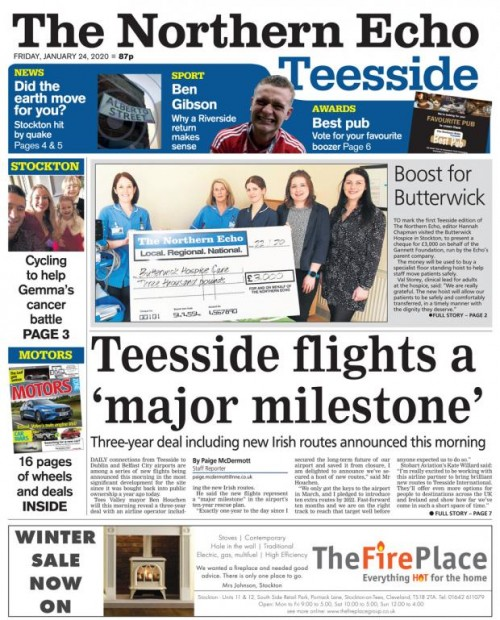 The Darlington-based Echo's Teesside edition launched in January