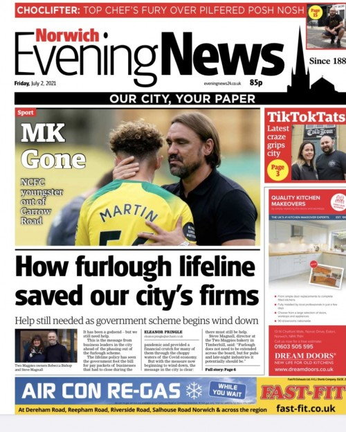 The new 'Our City, Your Paper' tagline first appeared on Friday's front page