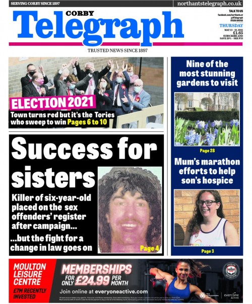 The Telegraph splashed on the campaign victory on Thursday