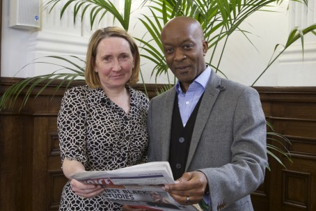 Julie Nightinghale, left, from Nottingham Trent University, and Rodney Hinds, from The Voice newspaper