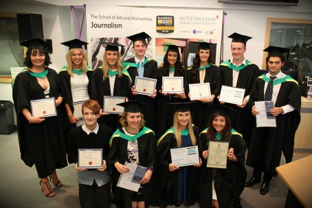 Winners of the Nottingham Trent University Centre for Broadcating and Journalism's annual awards